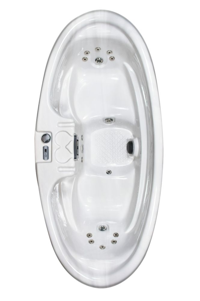 Santa Maria 2-Person 16-Jet Plug and Play Spa with Polar Insulation in Silver Marble