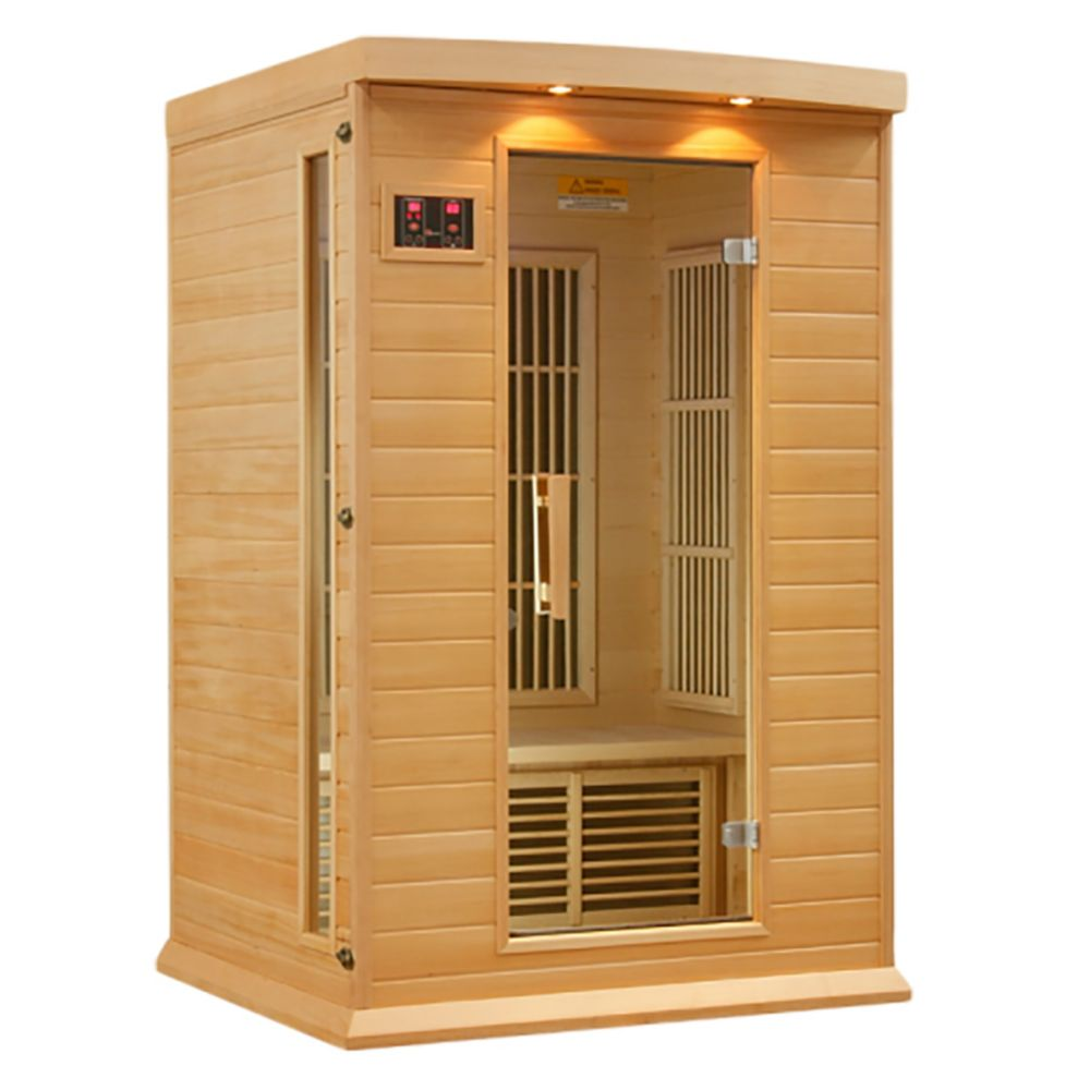 K206 2 Person Far Infrared Sauna with 7 Year Warranty Chromotherapy MP3 CD Stereo and 2 Speakers