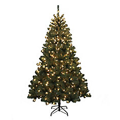 6.5 ft Pre-Lit Franklin Fir Artificial Christmas Tree - 400 Lights