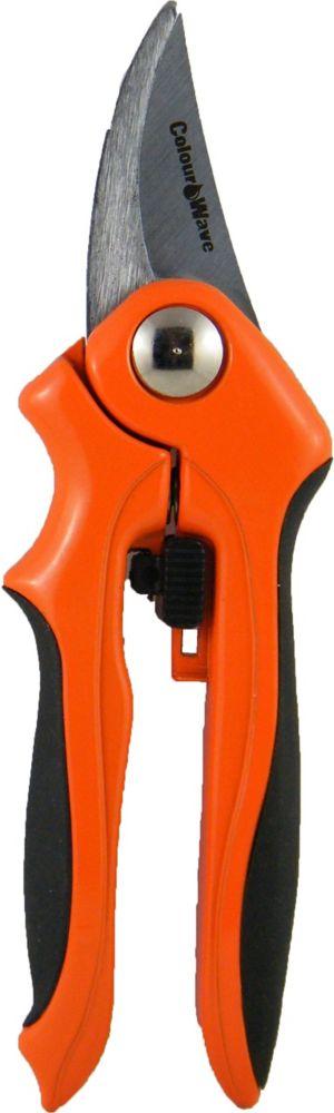 Sécateur à contre-lame, de couleur orange