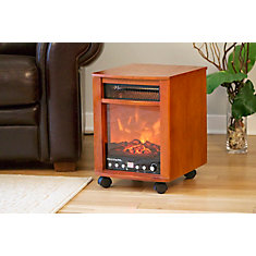 Chicago Full Featured Infrared Heater with Remote Control and Variable Flame Effect