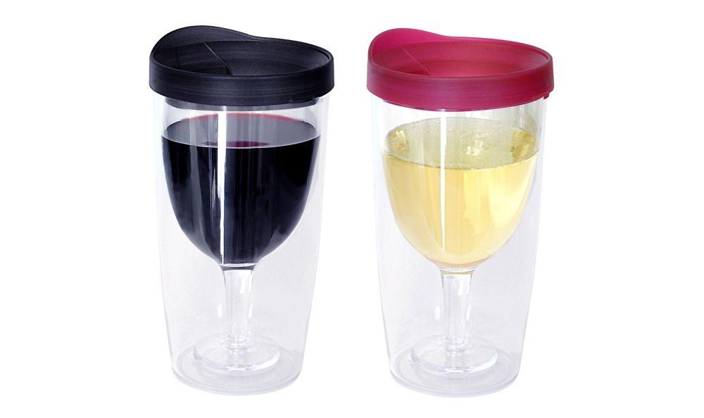 Wine Tumbler Black/Red 2 Pack