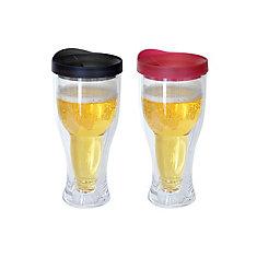 Beer Mug Black/Red (2-Pack)