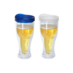 Party Brands Beer Mug Blue/Clear (2-Pack)