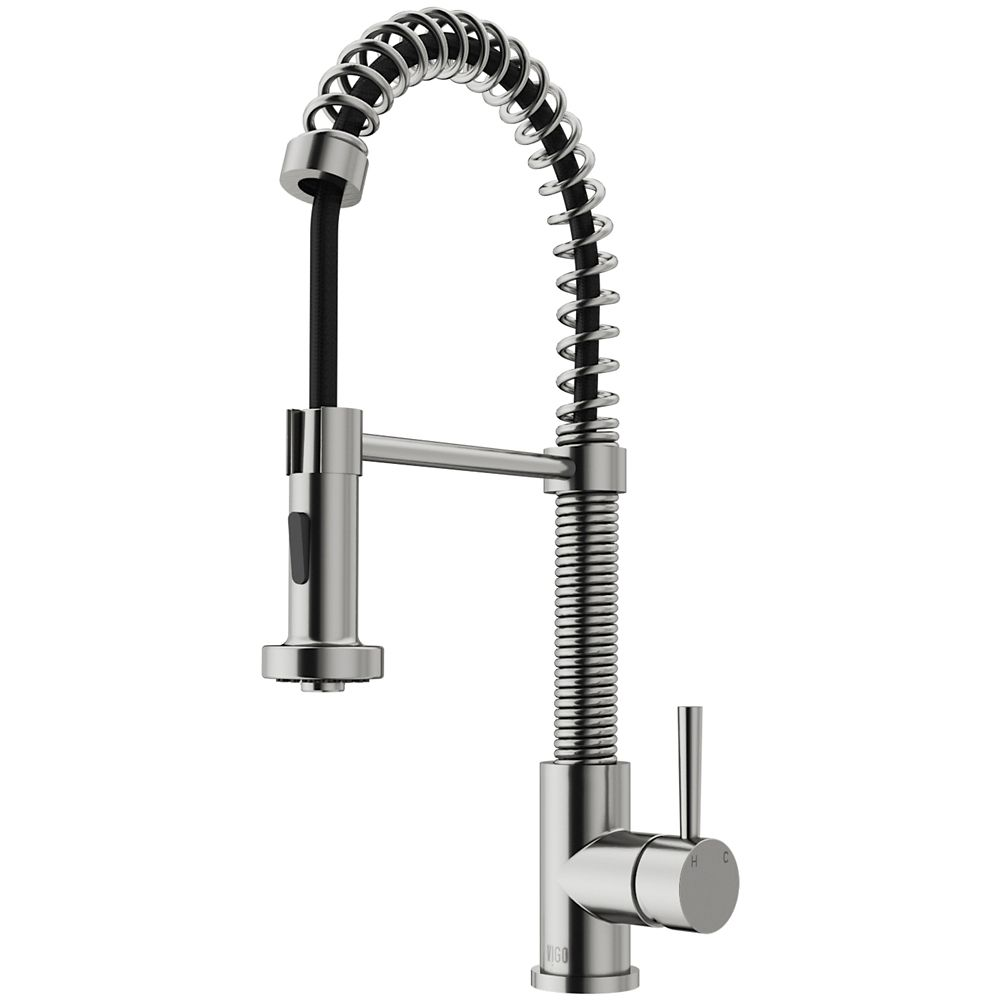 Stainless Steel Pull-Out Spray Kitchen Faucet VG02001ST Canada Discount