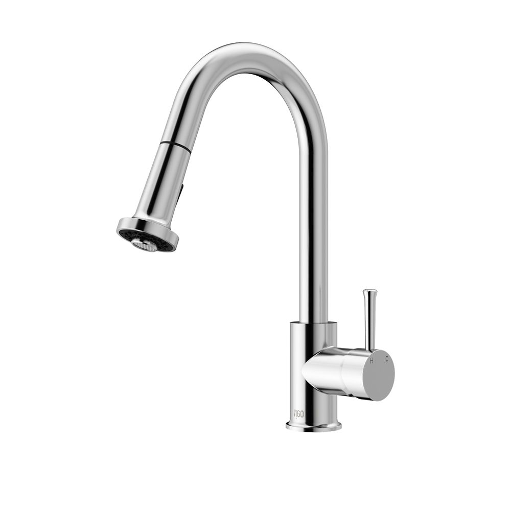 Chrome Pull-Out Spray Kitchen Faucet VG02002CH Canada Discount