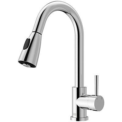 industries chrome pull faucets down kitchen spray faucet vigo