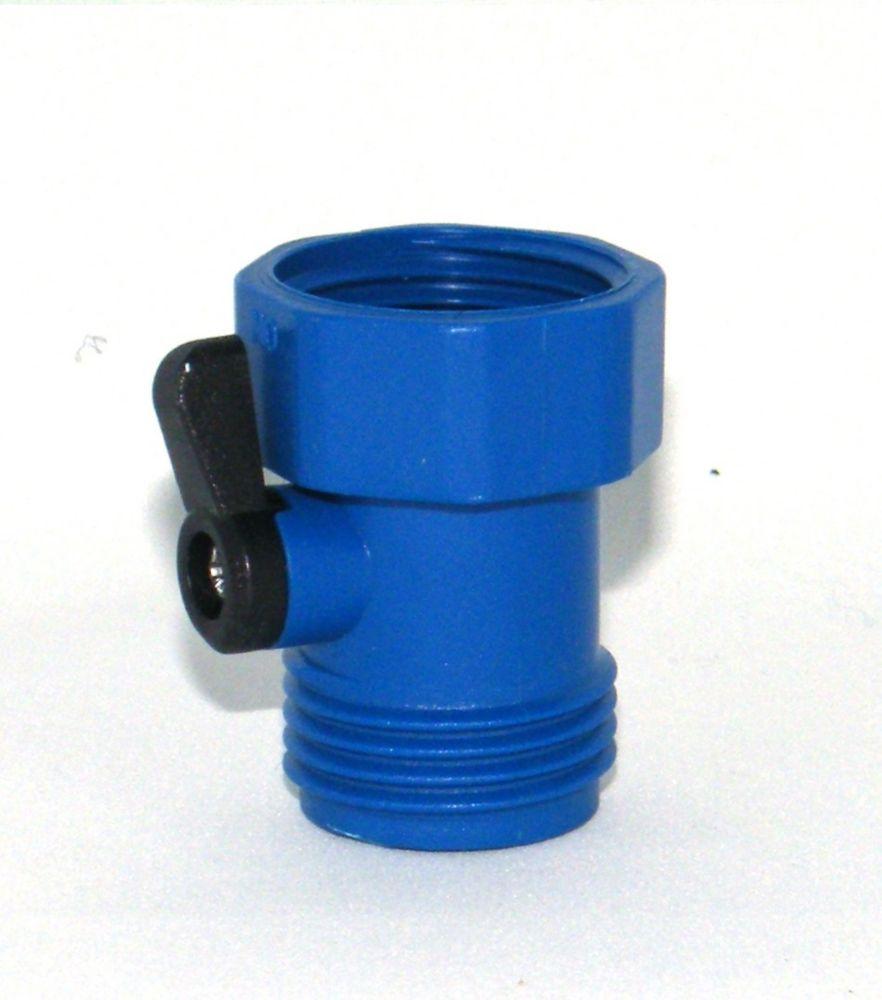 Dispositif simple de fermeture de tuyau bleu