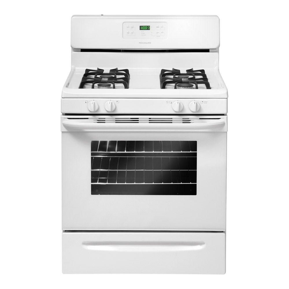 5.0 cu. ft. Self-Cleaning Free-Standing Gas Range in White