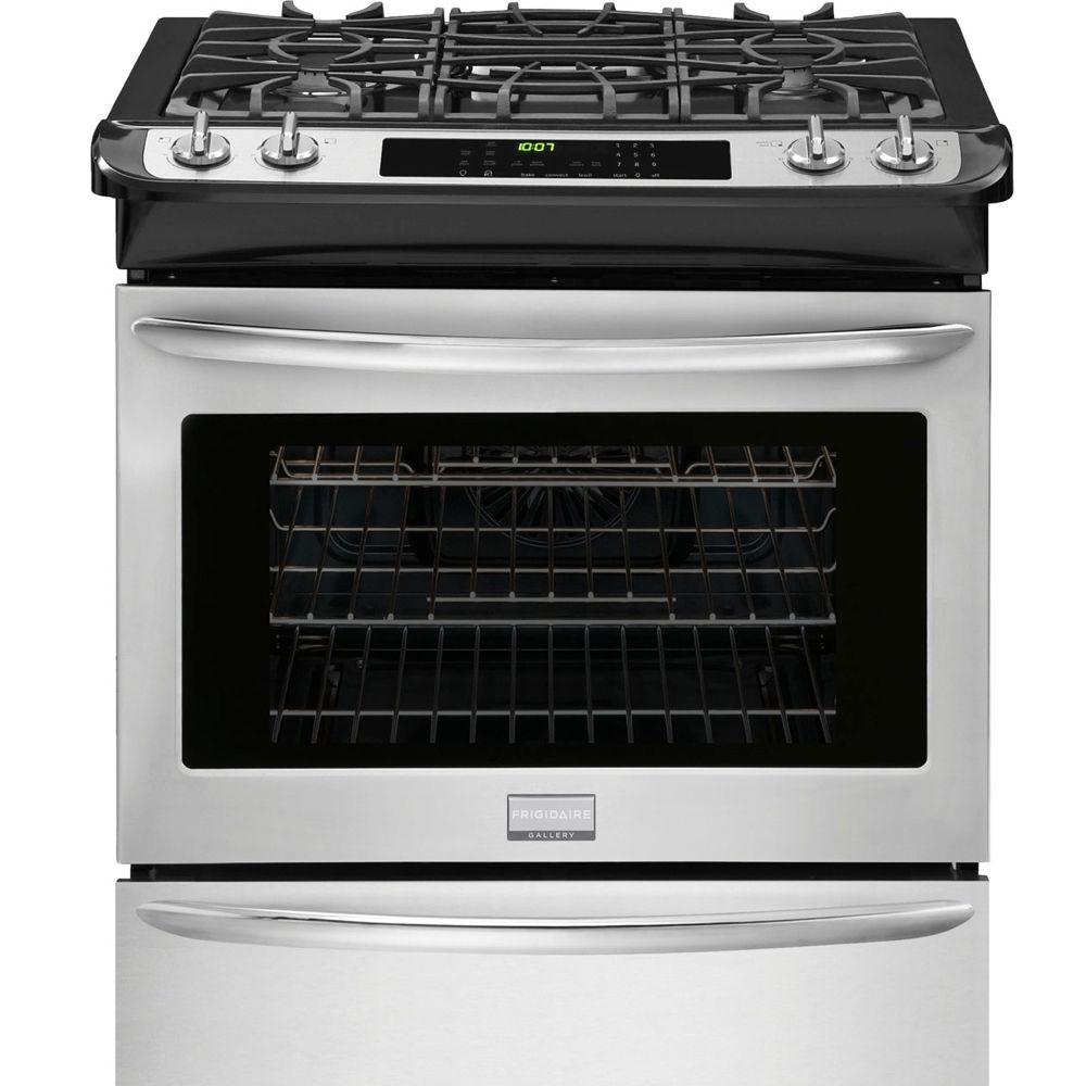 Cuisinière à gaz encastrable autonettoyante, 4,5pi.cube, acier inoxydable - FGGS3065PF