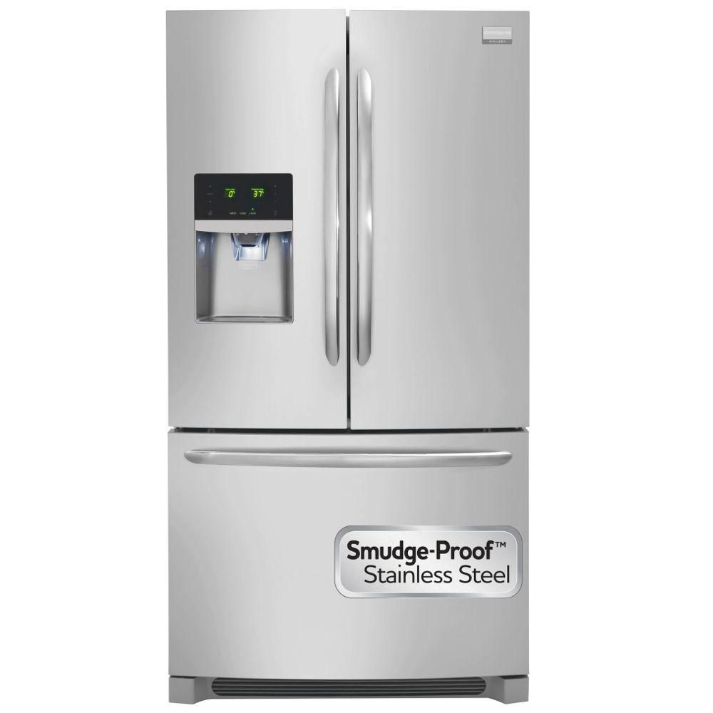 28 cu. ft. Standard-Depth French Door Refrigerator with Ice and Water Dispenser in Stainless Stee...