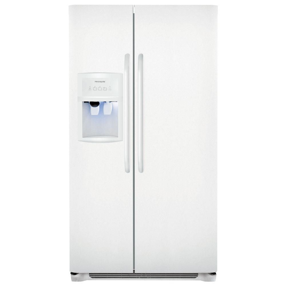 23 cu. ft. Standard-Depth Side-by-Side Refrigerator in White