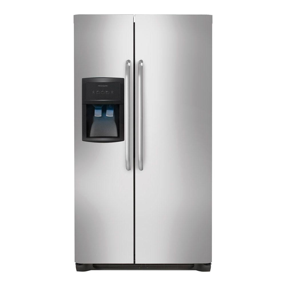 23 cu. ft. Standard-Depth Side-by-Side Refrigerator in Stainless Steel