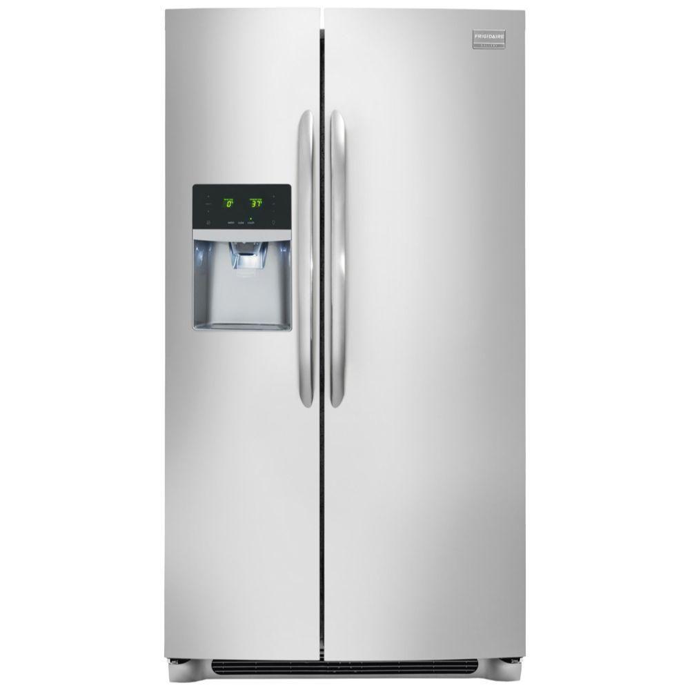 Réfrigérateur côte à côte, 22,6pi.cube, profondeur standard, acier inoxydable - FGHS2355PF
