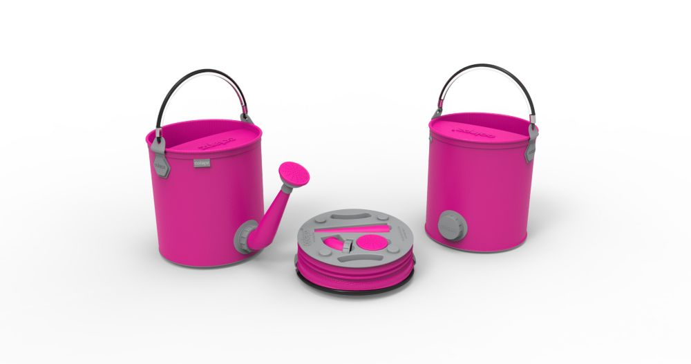 Colourwave Colpaz Collapsible 2-in-1 Watering Can & Bucket in Candy pink