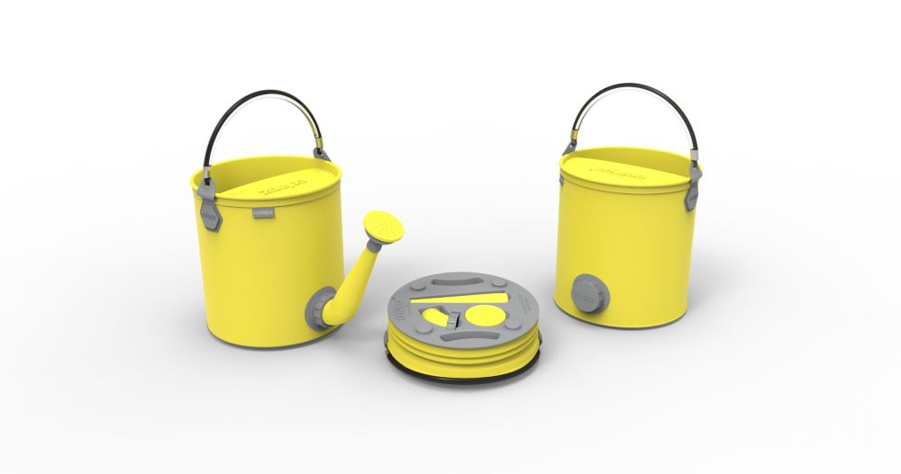 Colourwave Colpaz -Collapsible 2 in 1 can + bucket Sunshine yellow