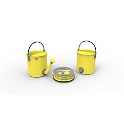 Colourwave Colpaz Collapsible 2-in-1 Watering Can & Bucket in Sunshine Yellow