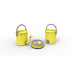 Colpaz Collapsible 2-in-1 Watering Can & Bucket in Sunshine Yellow