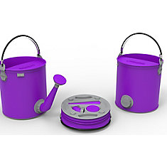 Colpaz Collapsible 2-in-1 Watering Can & Bucket in Funky Purple