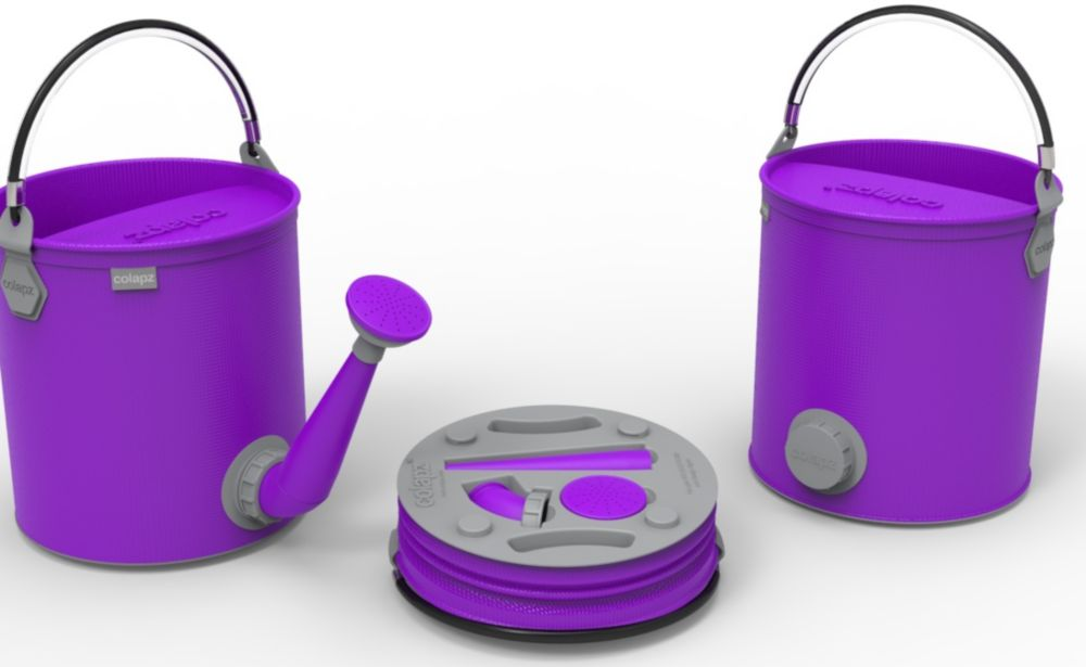 Colourwave Colpaz -Collapsible 2 in 1 can + bucket Funky purple