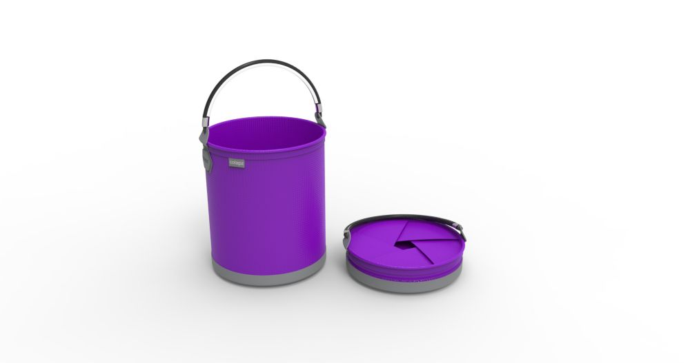 Colourwave Colpaz -Collapsible bucket Funky Purple