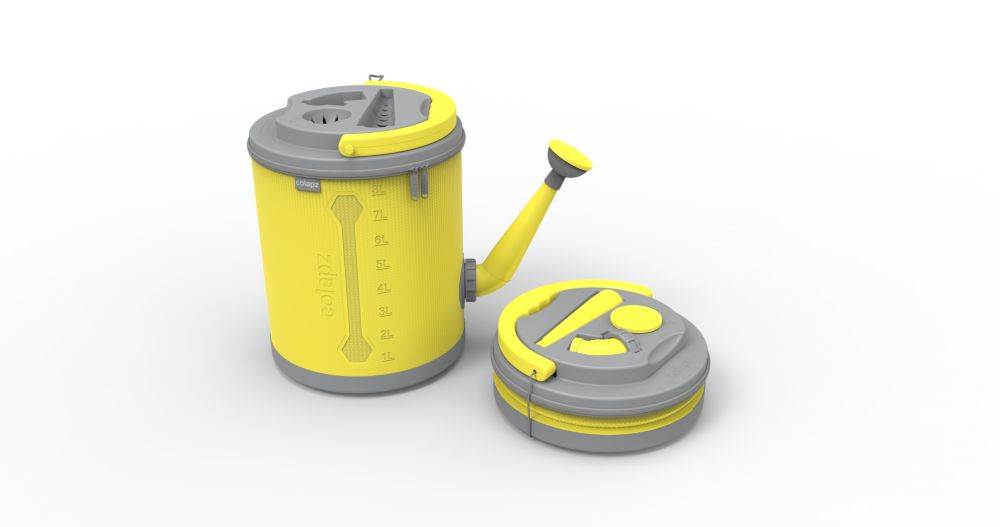 Colourwave Colpaz -Collapsible Watering can Sunshine yellow