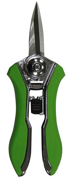 Sécateur à pointes fines, de couleur verte