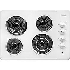30-inch Electric Coil Cooktop in White