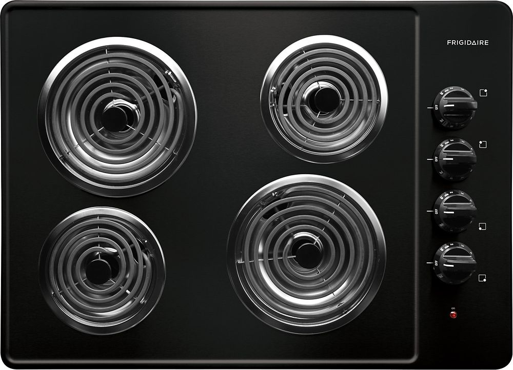 30-inch Electric Coil Cooktop in Black