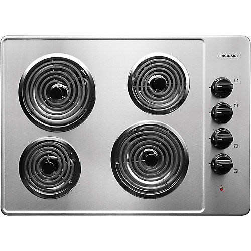 30-inch Electric Coil Cooktop in Stainless Steel