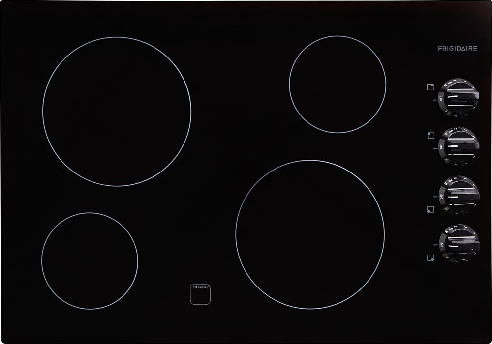 30-inch Smooth Electric Cooktop in Black