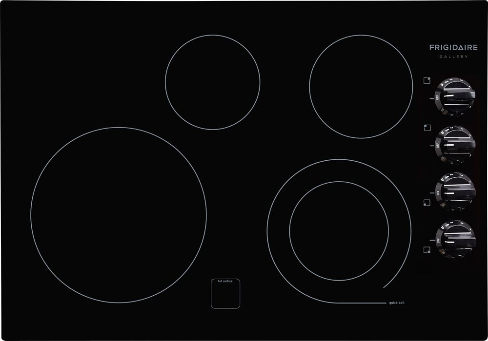 Gallery 30-inch Smoothtop Electric Cooktop in Black