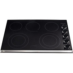 Gallery 30-inch Smoothtop Electric Cooktop with Five Burners in Black