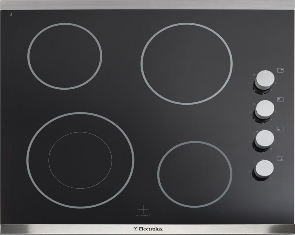 Electrolux 24-inch Smooth Surface Electric Cooktop with 4 Elements in Stainless Steel