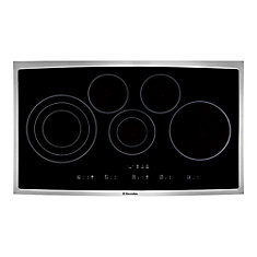 36-inch Smooth Surface Electric Cooktop with 5 Elements in Stainless Steel