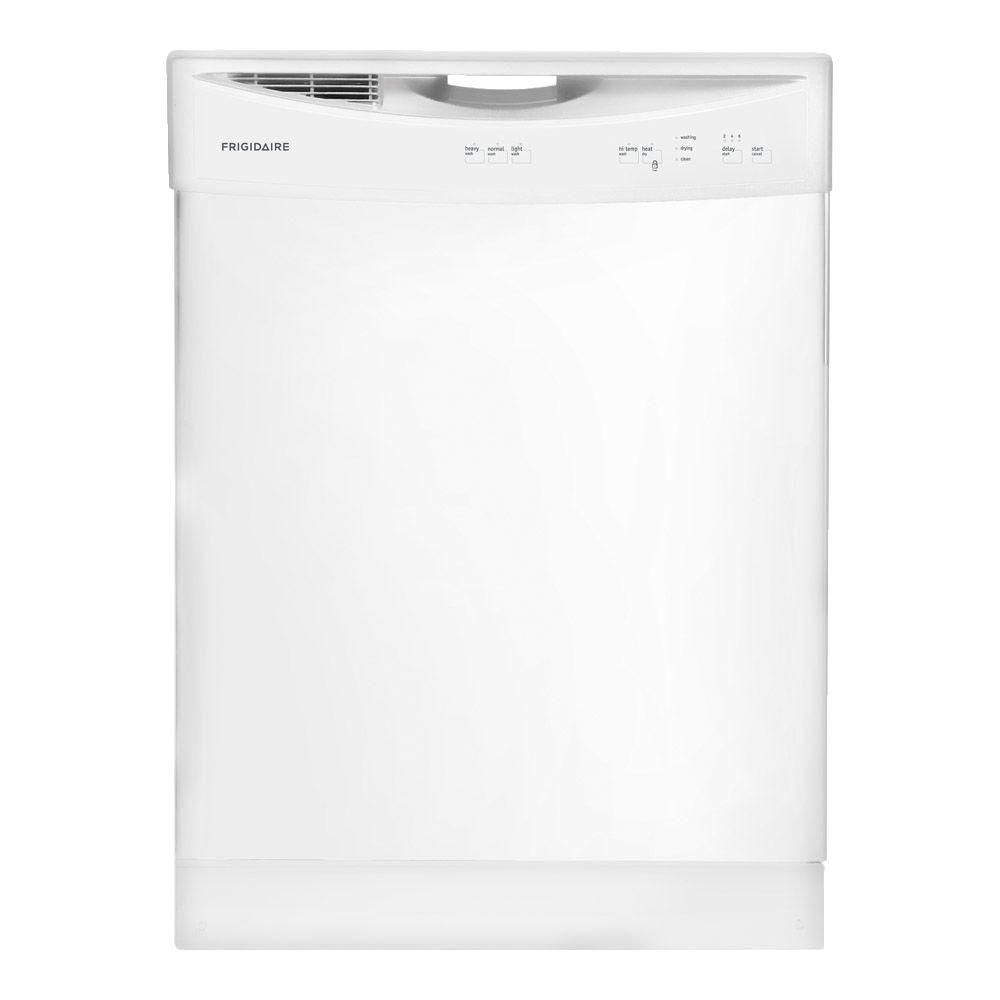 24-inch Built-In Dishwasher With Plastic tub in White