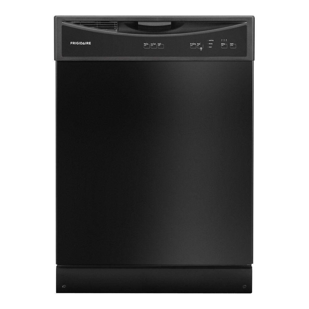 Frigidaire 24 inch built in dishwasher with plastic tub in black the home depot canada - Built in microwave home depot ...
