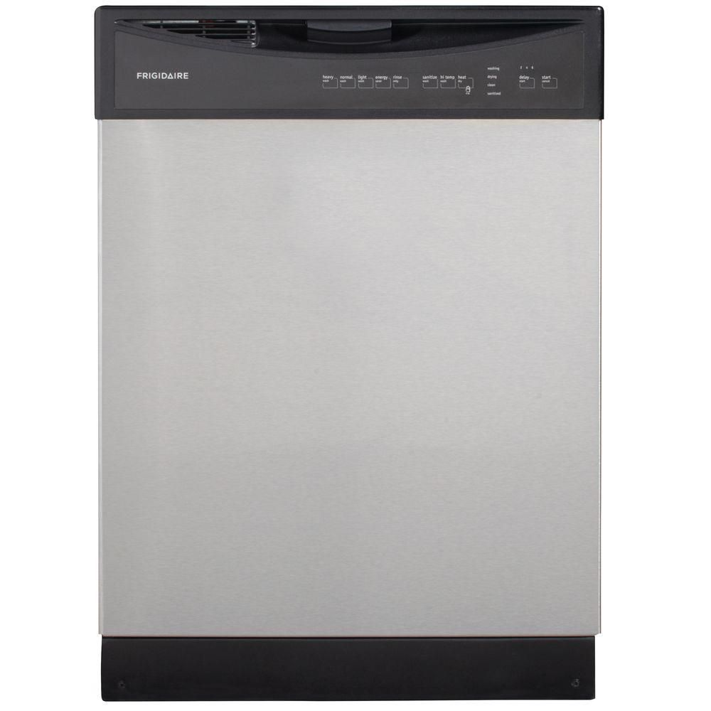 Frigidaire 24 inch built in dishwasher with plastic tub in for 24 inch built in microwave stainless steel
