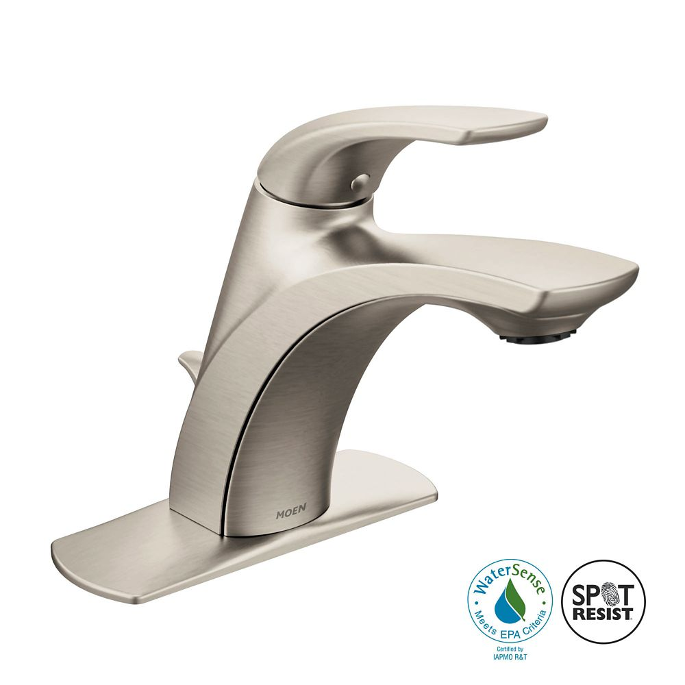 Moen Zarina Single-Handle Bathroom Faucet in Spot Resist Brushed Nickel