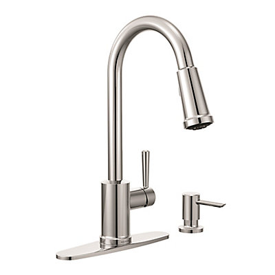 with one ca faucets manor moen s handle side lowe spray faucet kitchen chrome