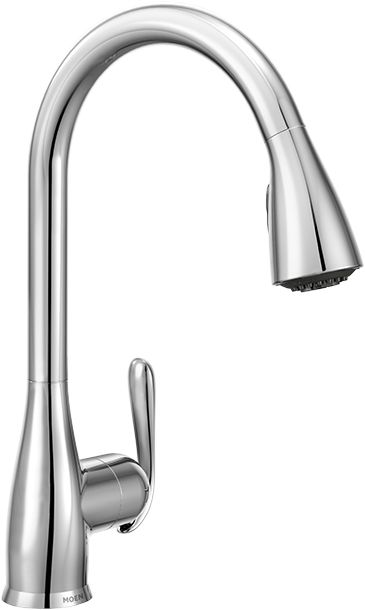 Moen Haysfield 1 Handle Pulldown Kitchen Faucet With Soap Chrome Finish The Home Depot Canada