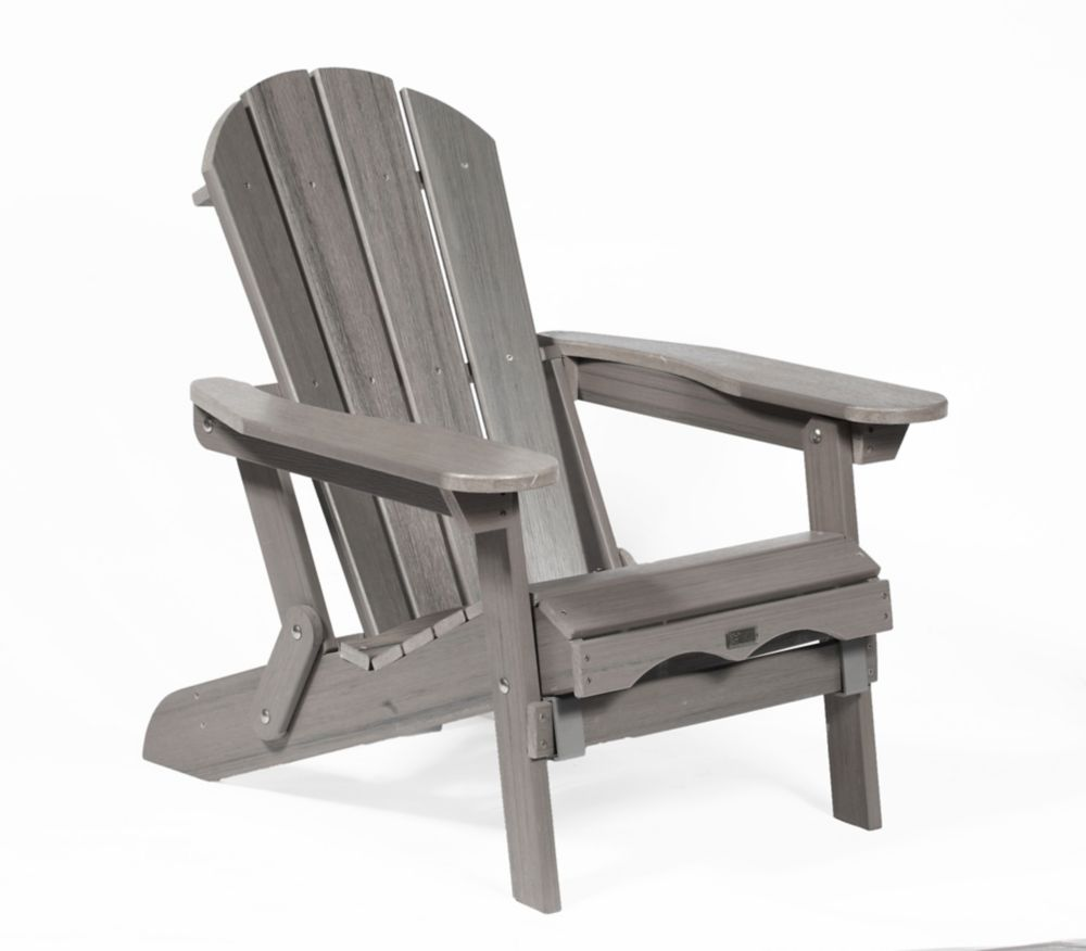 Grey Adirondack Folding Chair