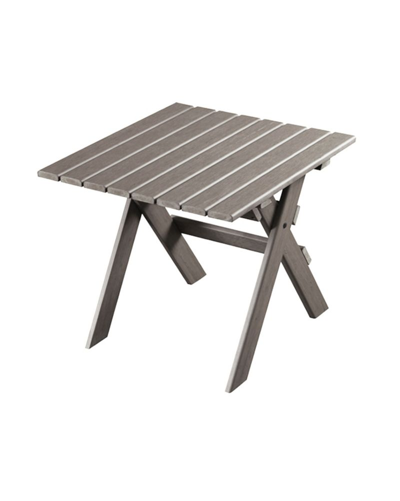 Eon Muskoka Patio Side Table in Grey