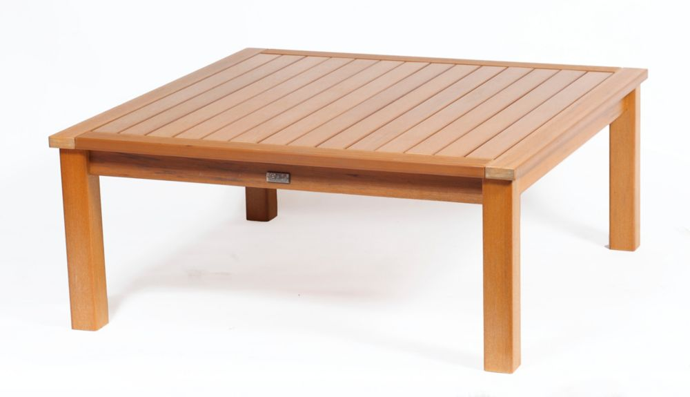 Eon Teak Deep Seating Coffee Table Square The Home Depot Canada