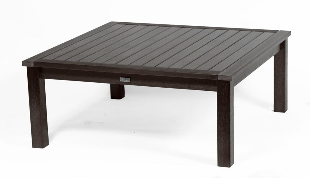 Eon Deep Seating Square Patio Coffee Table in Espresso