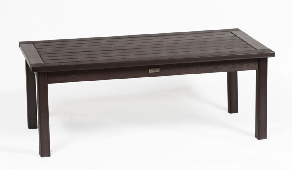 Eon Espresso Deep Seating Coffee Table Rectangular The Home Depot Canada