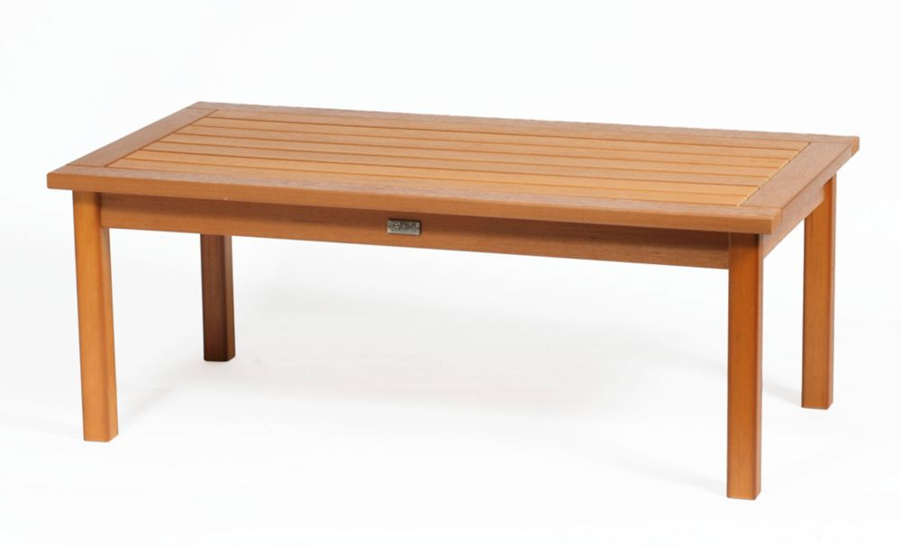 Eon Teak Deep Seating Coffee Table Rectangular The Home Depot Canada
