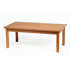 Deep Seating Rectangular Patio Coffee Table in Teak