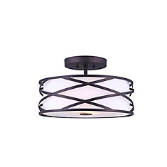 Carlina 2-Light Semi-Flushmount Light Fixture in Oil-Rubbed Bronze