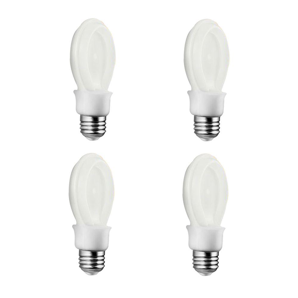 DEL SlimStyle 8W = 40W blanc doux (2700K) A19 - Cas de 4 Ampoules